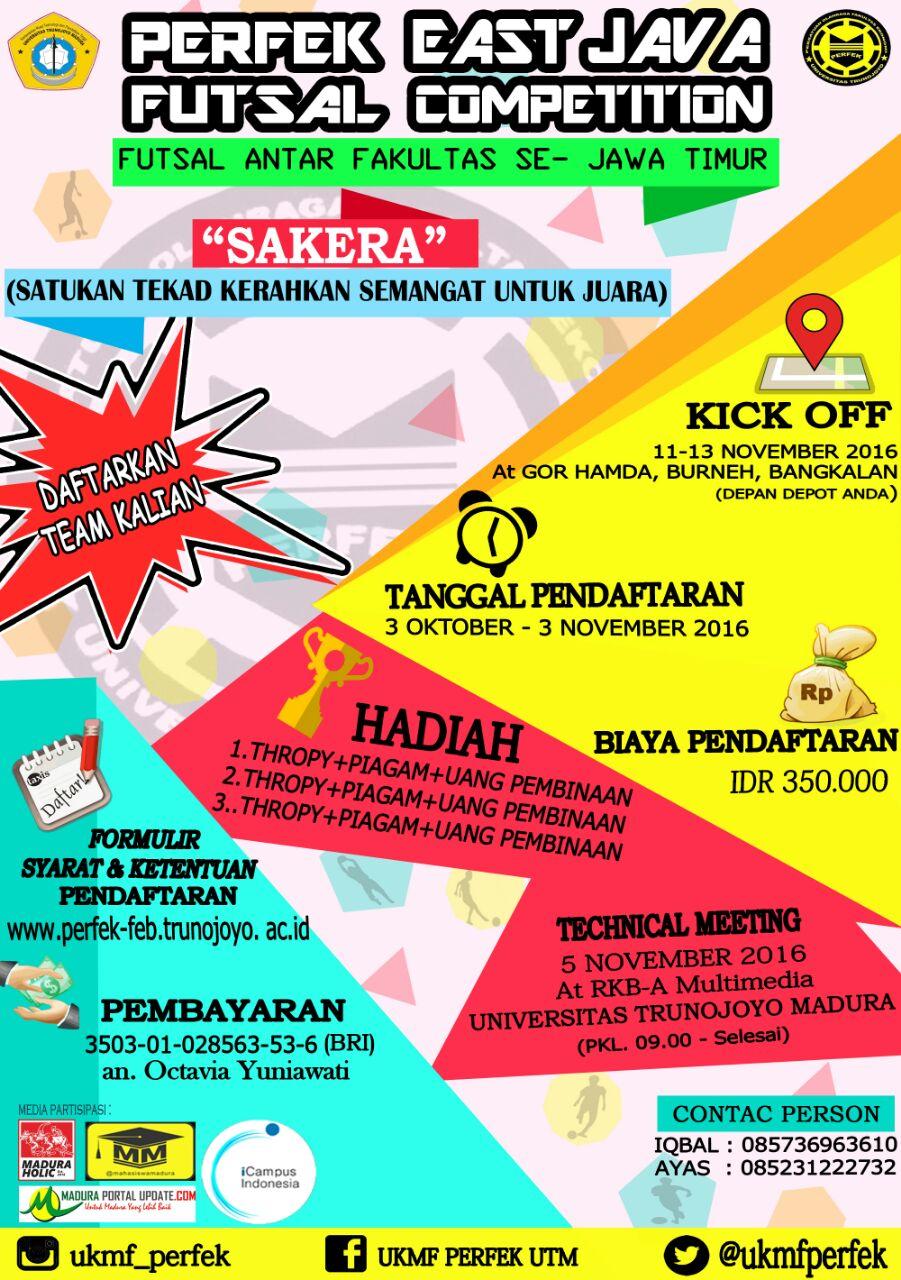 Perfek East Java Futsal Competition Futsal Antar Fakultas Se Jawa